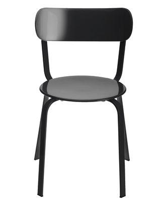 Möbel - Stühle  - Stil Stapelbarer Stuhl / Metall - Lapalma - Schwarz lackiertes Metall - lackiertes Metall