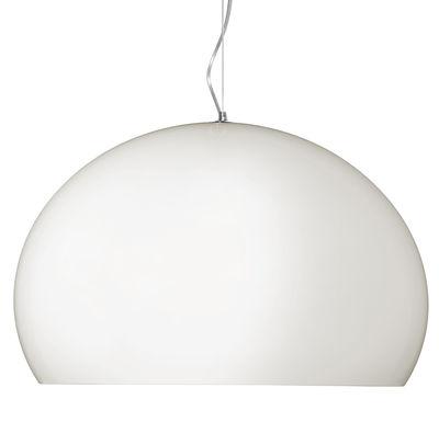 Suspension BIG FL/Y / Ø 83 cm - Kartell blanc opaque mat en matière plastique