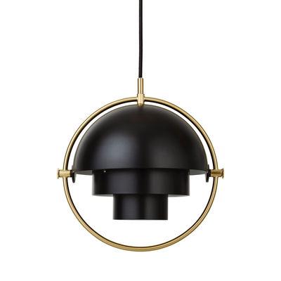 Luminaire - Suspensions - Suspension Multi-Lite Small / Ø 25 cm - Modulable & orientable / Réédition 1972 - Gubi - Noir / Cercle laiton - Métal