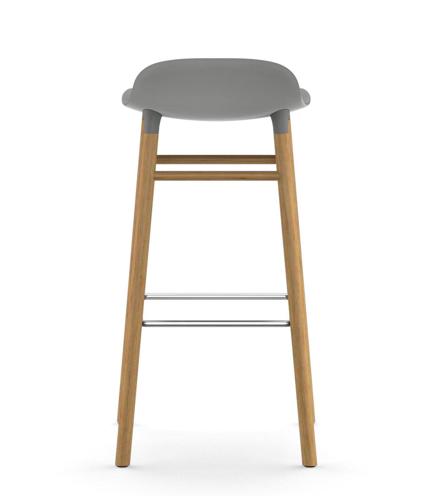 tabouret de bar form h 75 cm pied ch ne gris ch ne normann copenhagen made in design. Black Bedroom Furniture Sets. Home Design Ideas
