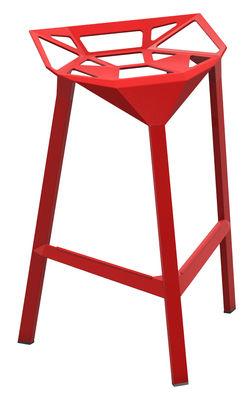 Tabouret de bar Stool One / H 67 cm - Métal - Magis rouge en métal