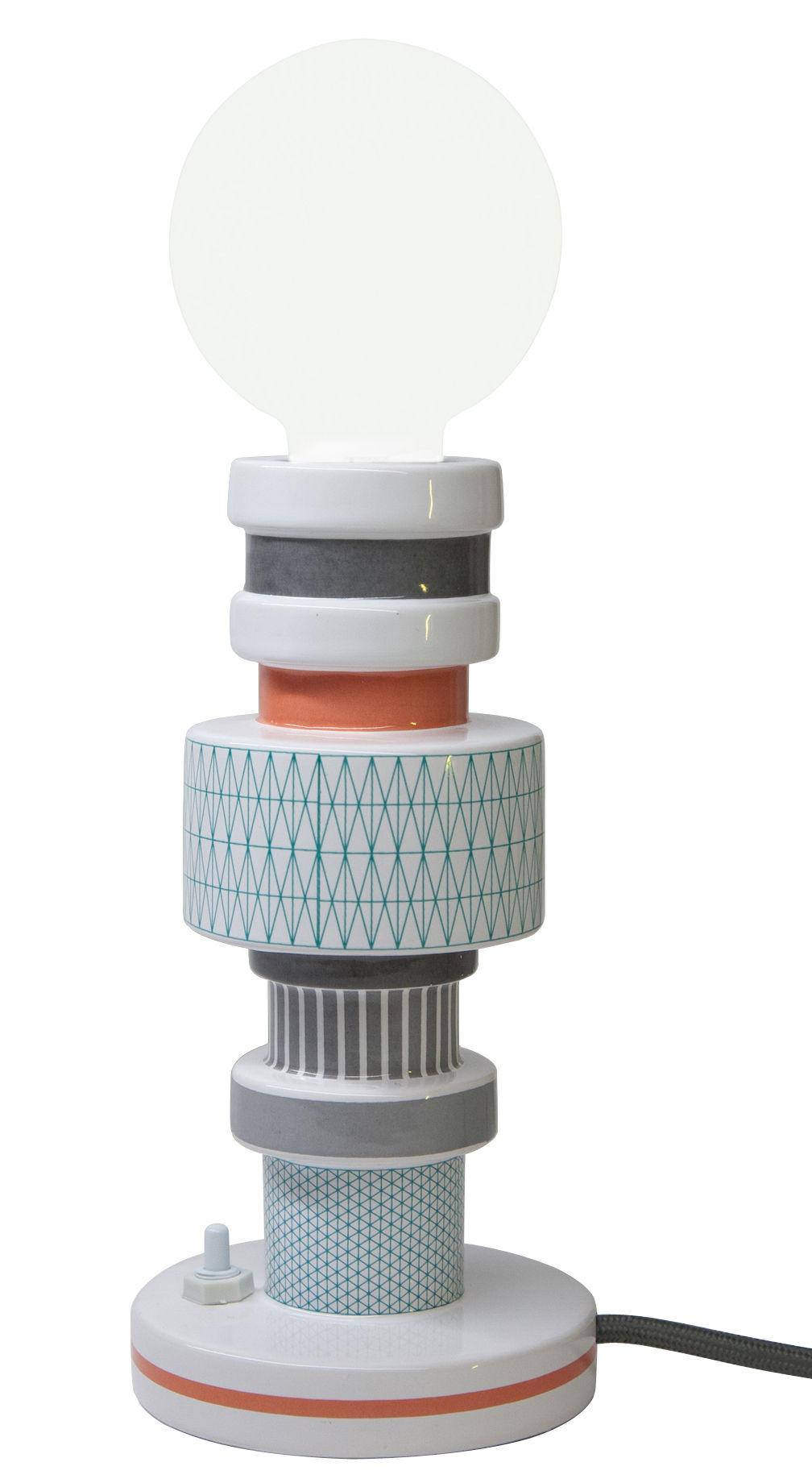 Leuchten - Tischleuchten - Moresque Tischleuchte / Porzellan - Seletti - Motiv
