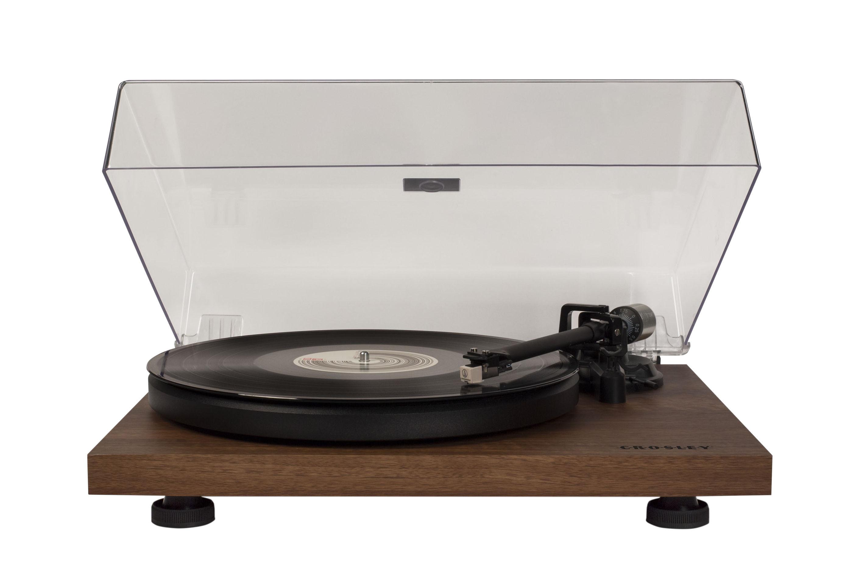 Product selections - Wood, the design fibre - C6 Turntable - / Walnut by Crosley - Walnut - Plastic, Steel, Walnut plated MDF