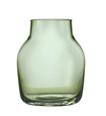 Vase Silent / Ø 11 cm - Muuto vert transparent en verre