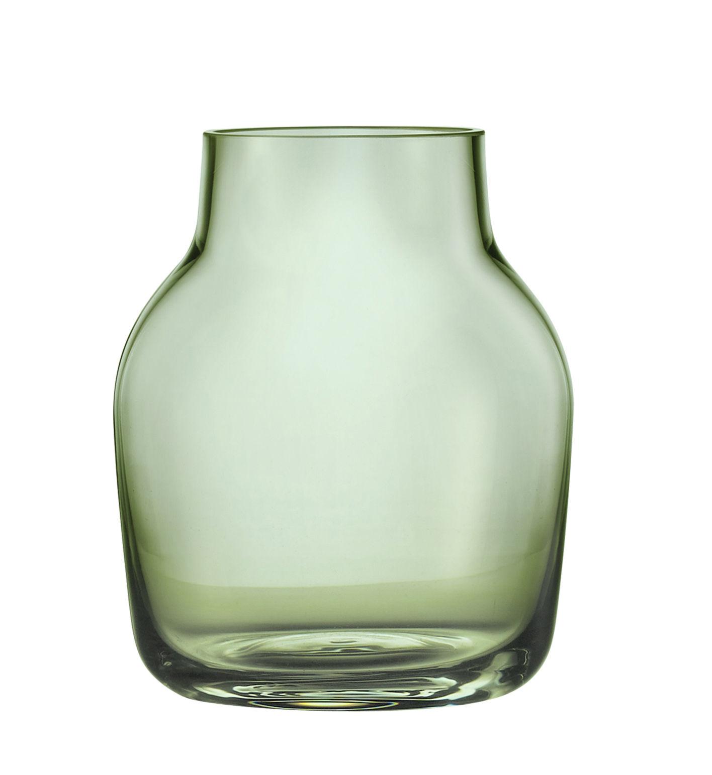 Interni - Vasi - Vaso Silent / Ø 11 cm - Muuto - Verde trasparente - vetro soffiato