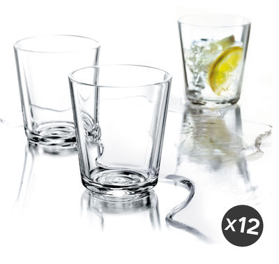 Tableware - Wine Glasses & Glassware - Water glass - / Set of 12 - 25 cl by Eva Solo - Transparent - Glass