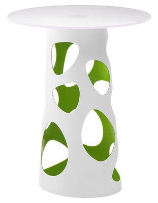 Outdoor - Mange-debout et bars - Accessoire table / Pied pour table Liberty H 105 cm - MyYour - Extérieur blanc / Interieur vert - Poleasy