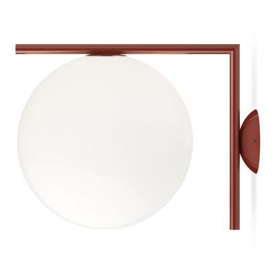 Applique IC W2 / Ø 30 cm - Flos blanc/rouge en métal/verre