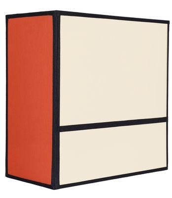 Luminaire - Appliques - Applique Radieuse Small / Non électrifiée - H 25 cm - Maison Sarah Lavoine - Ecru & orange / Ganses noires - Coton, Métal