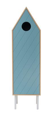Armoire Levante / Avec porte - L 50 x H 180 cm - Valsecchi 1918 bleu,bois naturel en bois