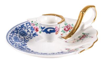 Bougeoir Bougeoir Hybrid Laudomia / Porcelaine - Seletti multicolore en céramique