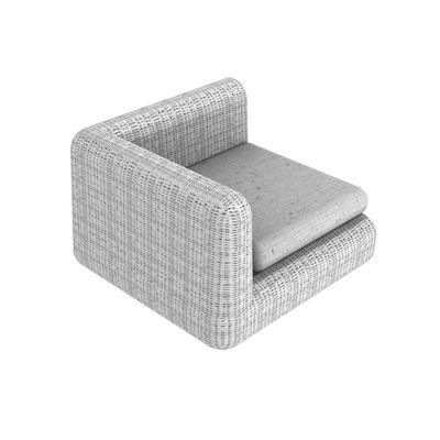 Canapé modulable Agorà / Module d'angle - L 100 cm - Unopiu blanc,blanc écru en matière plastique
