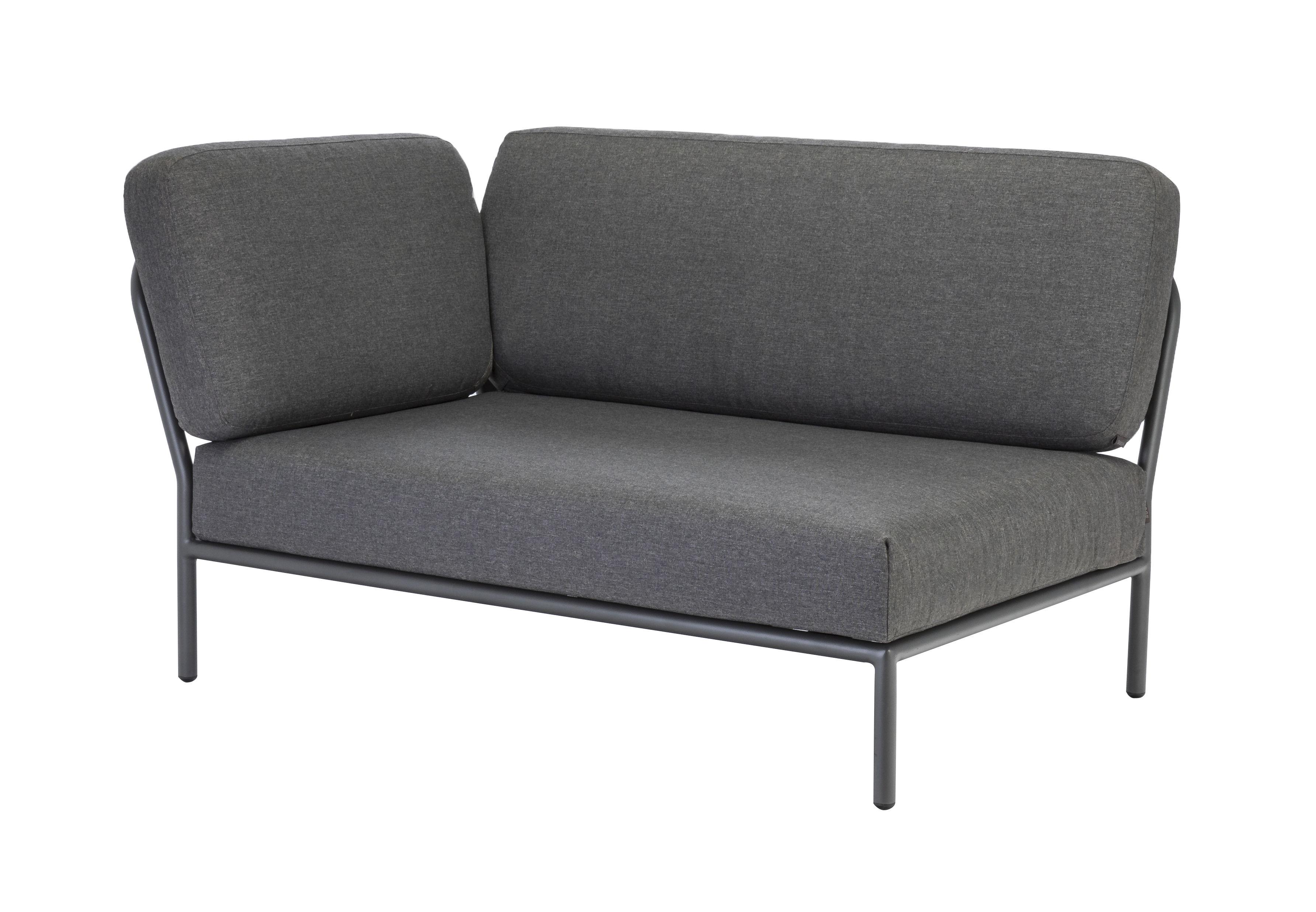 Mobilier - Canapés - Canapé modulable Level / Module angle gauche - L 140 cm / Tissu - Houe - Gris - Aluminium thermo-laqué, Mousse polyuréthane, Tissu polyester