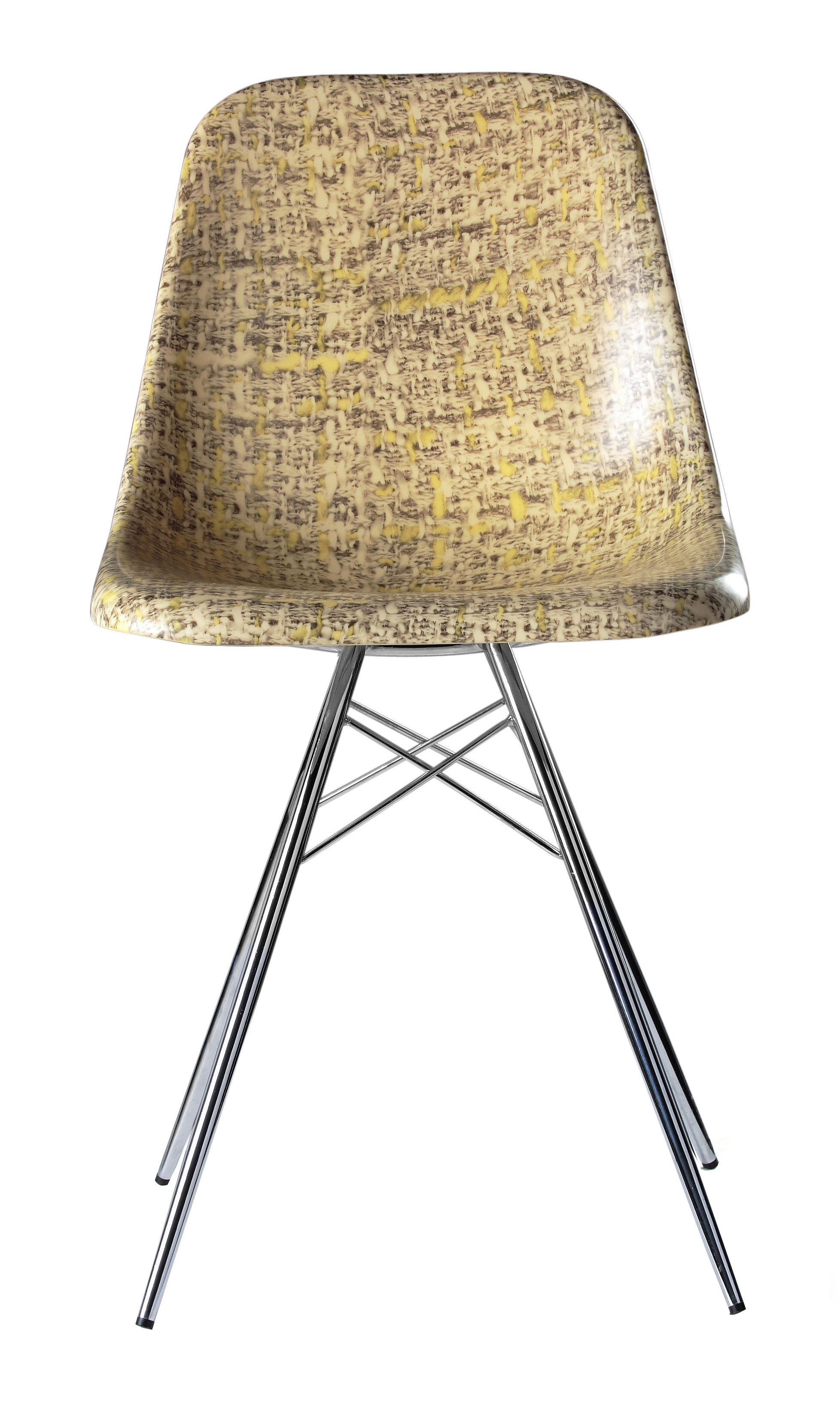 Chaise Couture Tweed Jaune