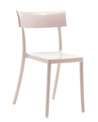 Chaise empilable Generic Catwalk / Polycarbonate - Kartell rose en matière plastique