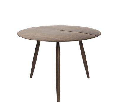 Furniture - Coffee Tables - Orio Coffee table - / Ø 60 cm by Internoitaliano - Walnut - Solid walnut