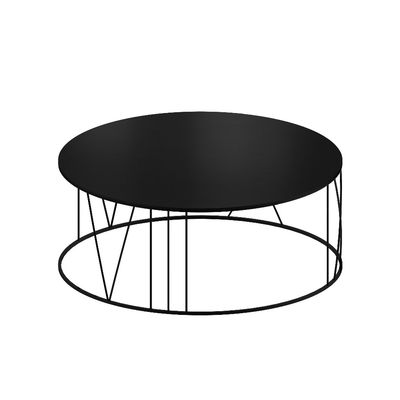 Furniture - Coffee Tables - Roma Large Coffee table - / Ø 100 cm - Steel by Zeus - Sanded black copper - Steel