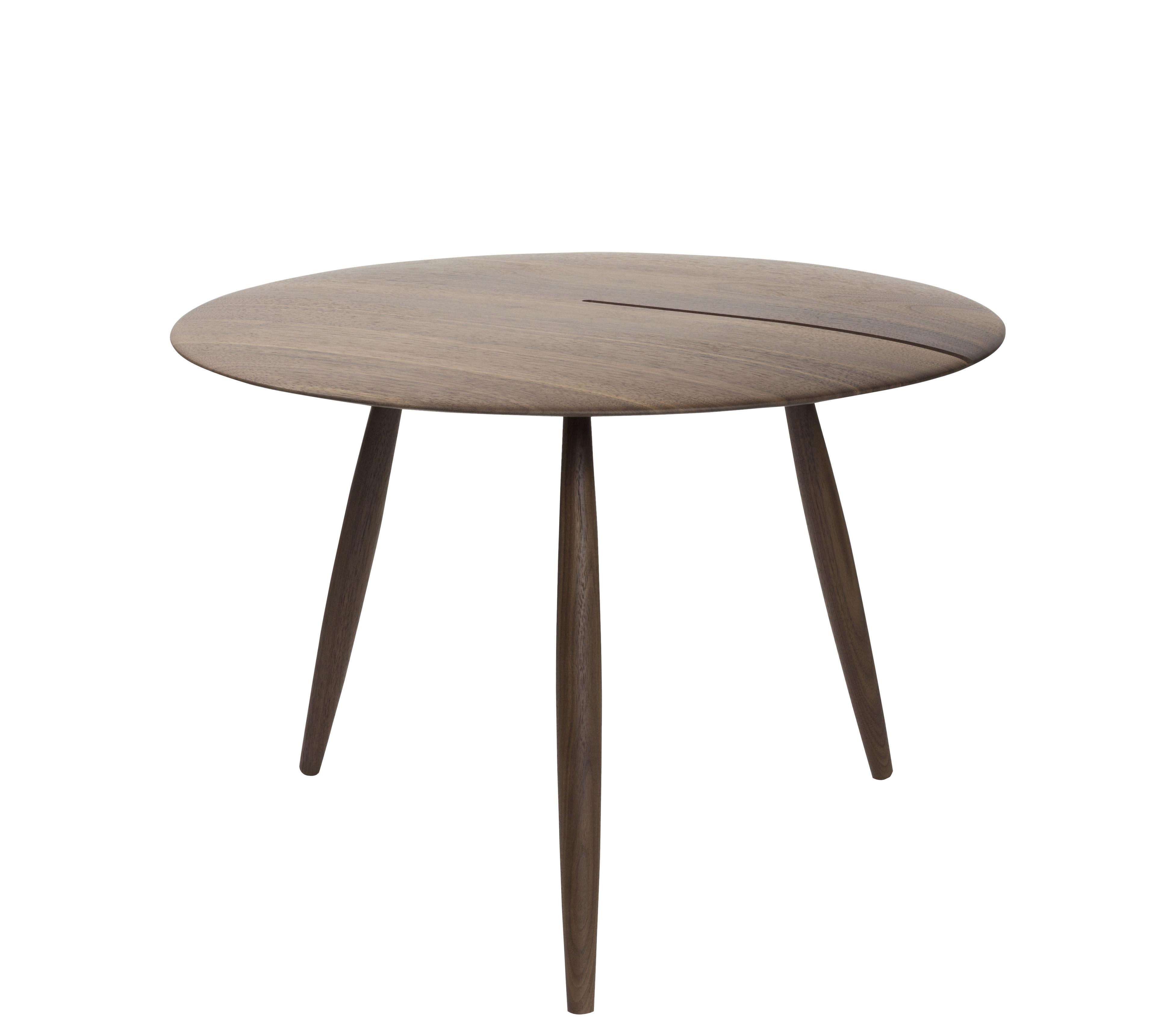 Möbel - Couchtische - Orio Couchtisch / Ø 60 cm - Internoitaliano - Nussbaum - Nussbaum massiv