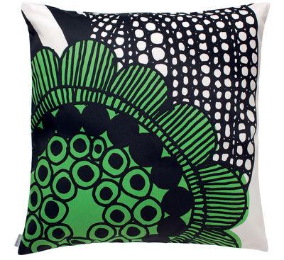 Interni - Cuscini  - Cuscino Siirtolapuutarha - 50 x 50 cm di Marimekko - Siirtolapuutarha - bianco & verde - Cotone