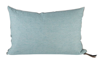 Decoration - Cushions & Poufs - Vice Versa Cushion - 32 x 50 cm by Maison de Vacances - Aqua - Cotton, Duck feathers, Flax