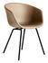 Fauteuil rembourré About a chair AAC27 / Cuir intégral & métal - Hay