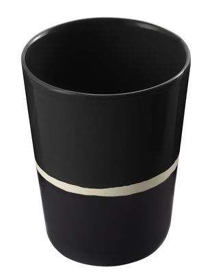 Tableware - Wine Glasses & Glassware - Sicilia Glass by Maison Sarah Lavoine - Black - Painted enameled stoneware