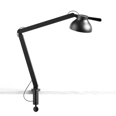 Illuminazione - Lampade da tavolo - Lampada d'architetto PC - / Base a morsa - Doppio braccio di Hay - Nero - Acciaio, Alluminio, policarbonato