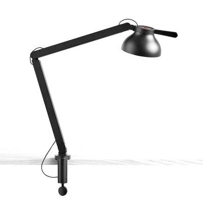 Luminaire - Lampes de table - Lampe d'architecte PC / Base étau - Double bras - Hay - Noir - Acier, Aluminium, Polycarbonate