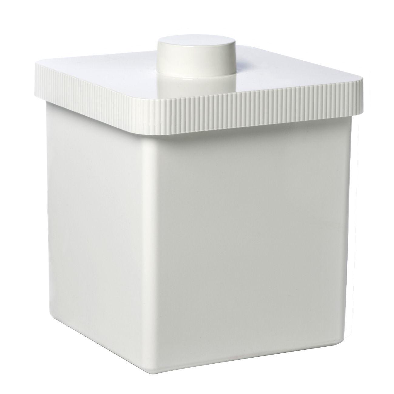 Interni - Bagno  - Pattumiera Kali - 10 Litri di Authentics - Bianco - Plastica