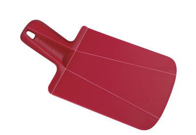 Planche à découper Chop2Pot mini / Pliable - L 32 cm - Joseph Joseph rouge en matière plastique