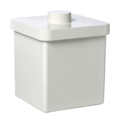 Déco - Salle de bains - Poubelle Kali 10 Litres - Authentics - Blanc - Plastique