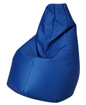 Pouf Sacco Outdoor / Pour l'extérieur - Tissu - Zanotta bleu en tissu