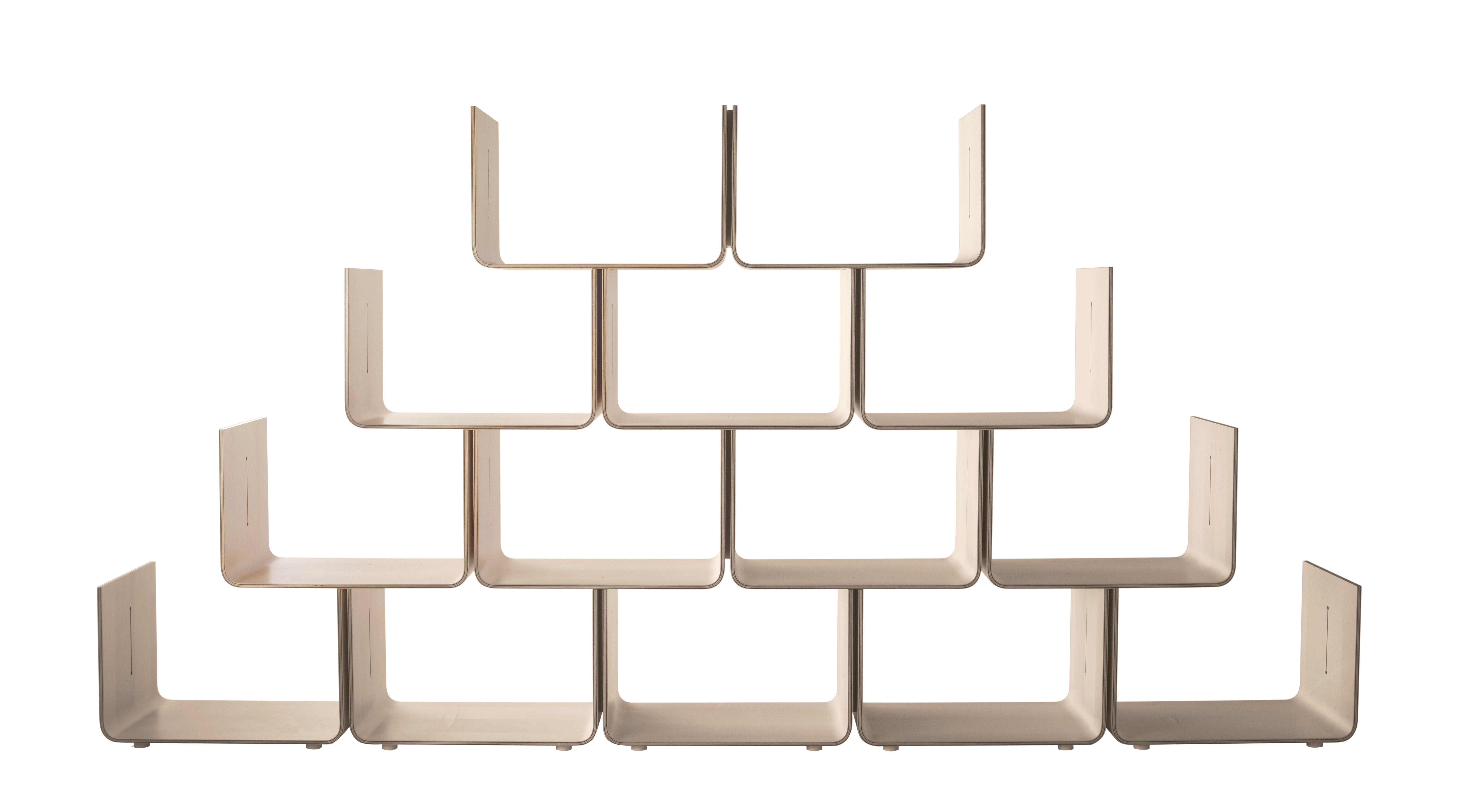 Arredamento - Scaffali e librerie - Scaffale Elysée - modulo di base di Magis - Naturale - Con rotelle - Multistrato d'acero