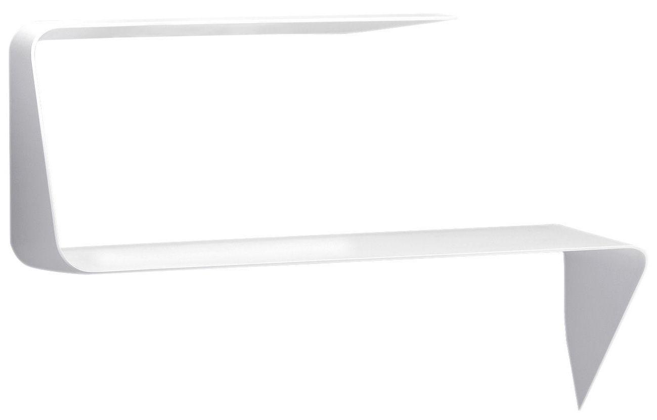 Möbel - Regale und Bücherregale - Mamba Schreibtisch / Wandregal - Ecke rechts - L 135 cm - MDF Italia - Weiß - Ecke rechts - Cristalplant