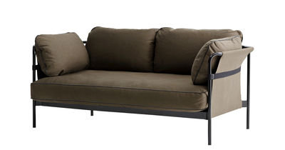 Can Sofa / 2-Sitzer - L 172 cm - Hay - Schwarz,Kaki