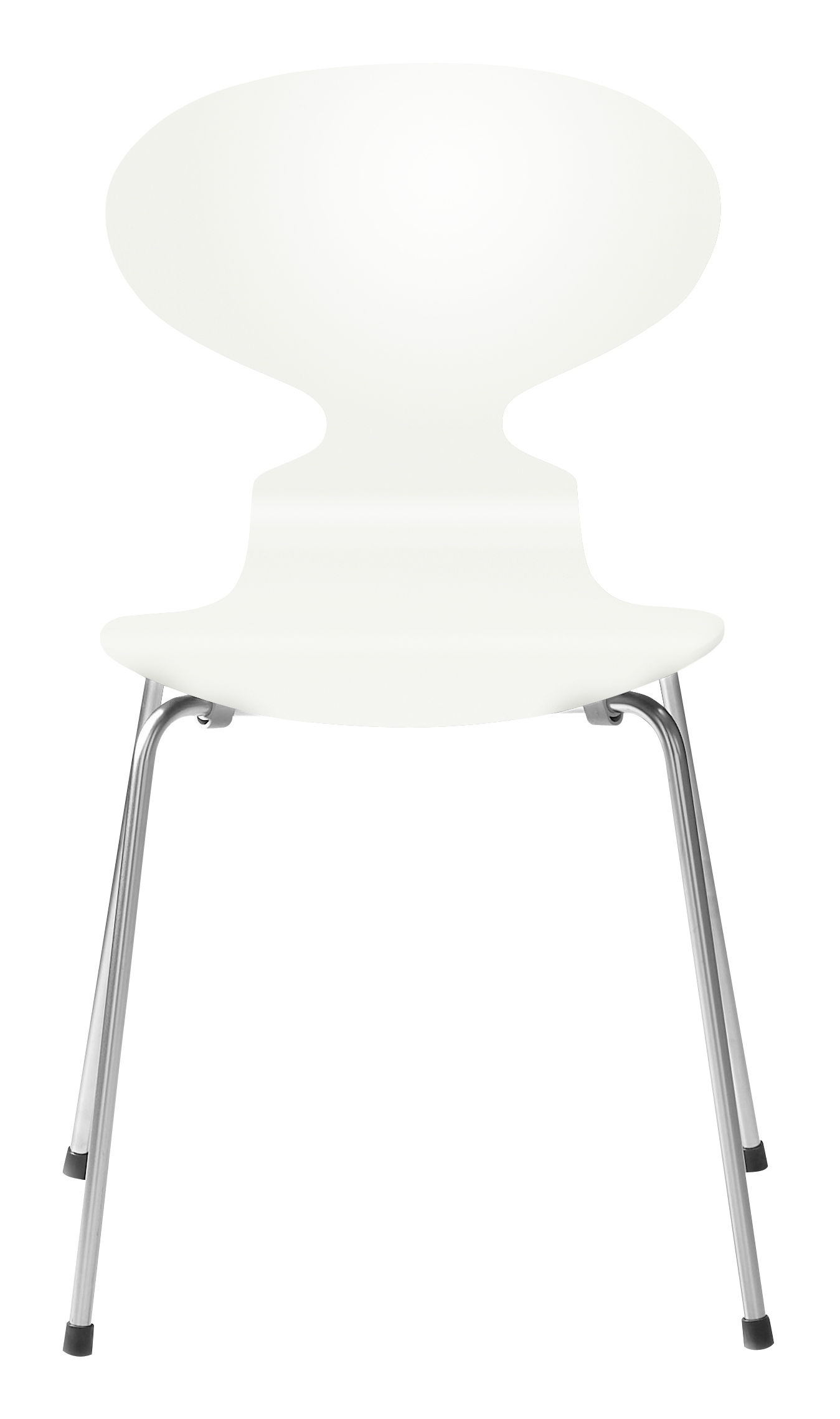 Furniture - Chairs - Fourmi Stacking chair - Lacquered wood by Fritz Hansen - White lacquered - Lacquered plywood, Steel
