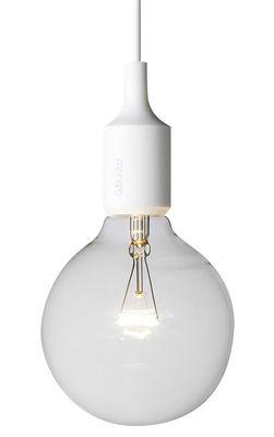 Luminaire - Suspensions - Suspension E27 - Muuto - Crème - Silicone