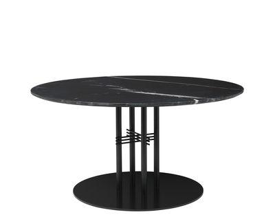 Table basse TS Column Gamfratesi Ø 110 x H 60 cm Gubi noir en métal