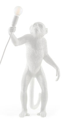 Lighting - Table Lamps - Monkey Standing Table lamp - / Outdoor - h 54 cm by Seletti - White - Resin