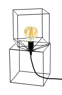 Lighting - Table Lamps - Trompe l'œil Table lamp - To laid or suspend - H 46 cm by Serax - Black - Lacquered metal