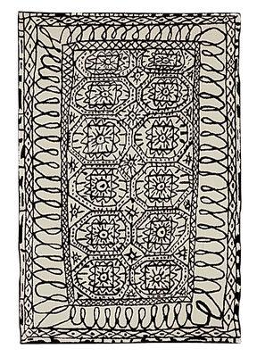 Möbel - Teppiche - Black on white - Estambul Teppich - Nanimarquina - 200 x 300 cm - schwarz und weiß - Wolle