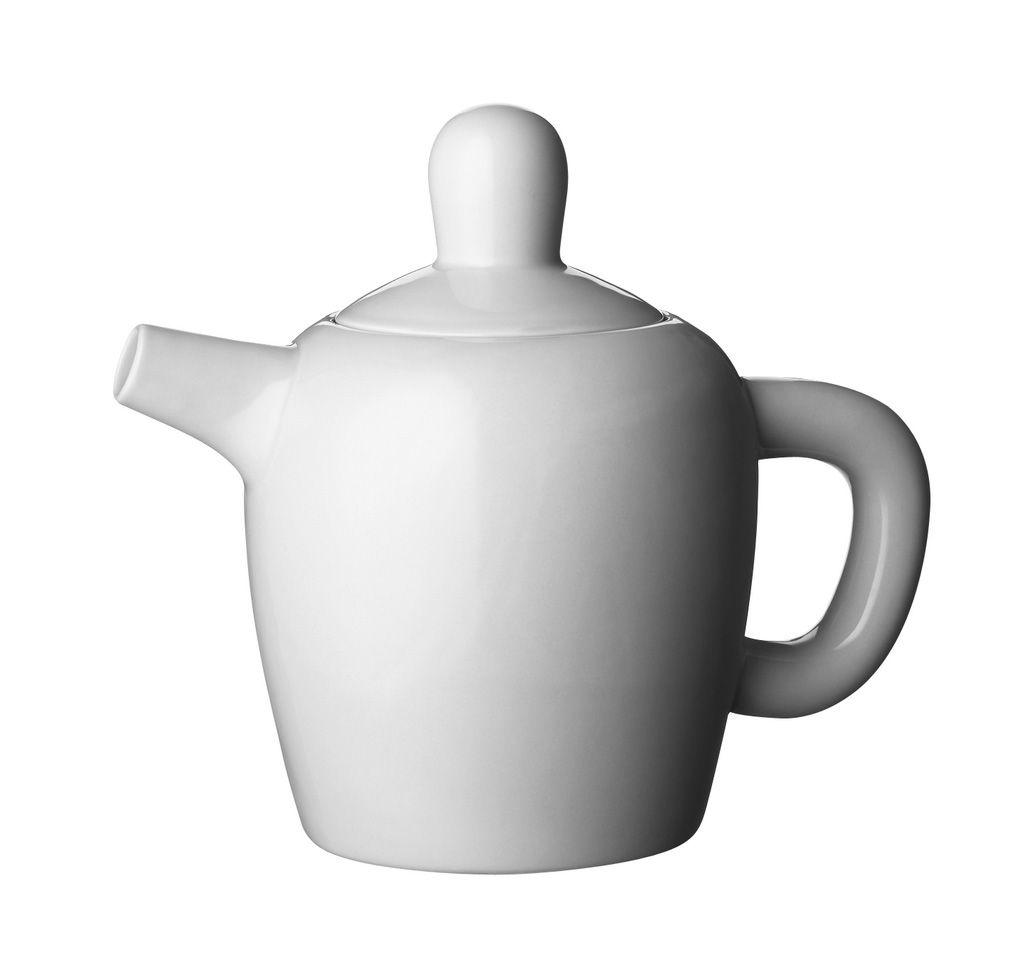 Arts de la table - Thé et café - Théière Bulky - Muuto - Blanc - Porcelaine