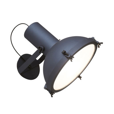 Lighting - Wall Lights - Projecteur 365 OUTDOOR Wall light - / Ø 37 cm - Le Corbusier, reissue 1954 by Nemo - Dark blue-anthracite - Opal Glass, Painted aluminium
