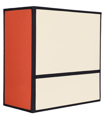 Leuchten - Wandleuchten - Radieuse Small Wandleuchte / ohne Fassung und Stromanschluss - H 25 cm - Maison Sarah Lavoine - Natur & orange / Einfassungen schwarz - Baumwolle, Metall