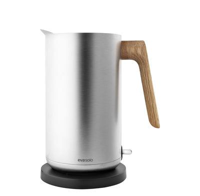 Küche - Teekannen und Wasserkessel - Nordic Kitchen Wasserkessel / 1,5 l - Stahl & Eiche - Eva Solo - Edelstahl / Eiche - Eiche, rostfreier Stahl