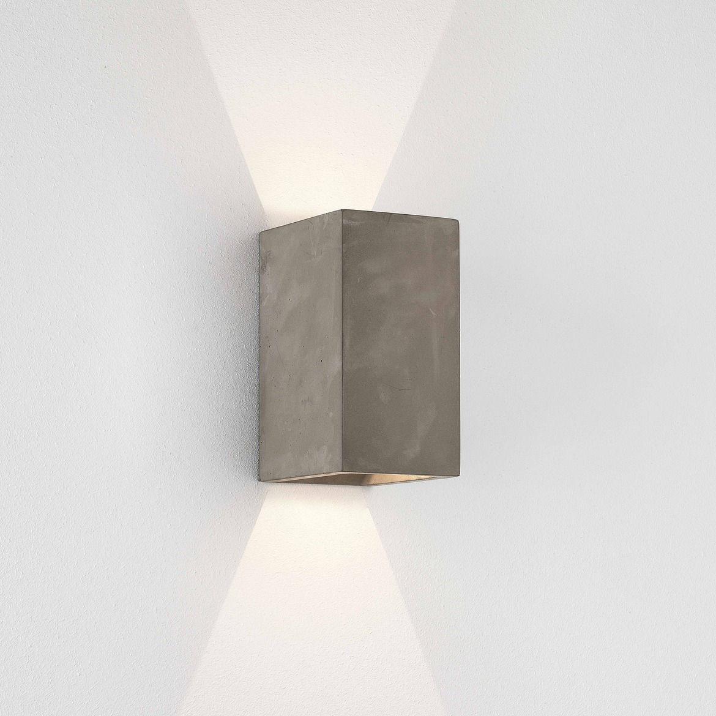 Luminaire - Appliques - Applique Oslo LED / Béton - Astro Lighting - Gris - Béton brut