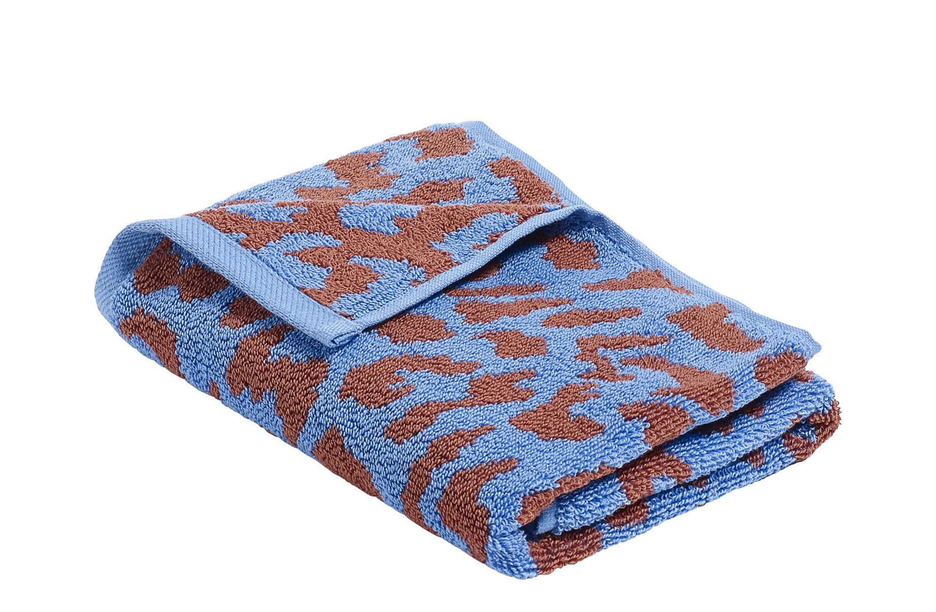 Accessori moda - Accessori bagno - Asciugamano ospiti He She It / by Nathalie du pasquier - 70 x 50 cm - Hay - It / Blu cielo & Rosso - Cotone