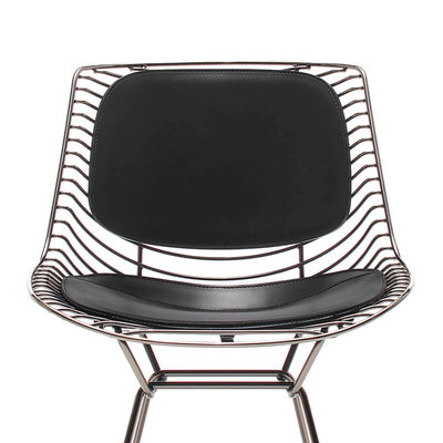Furniture - Chairs - Backrest & seat cushion - leather / For Flow Filo chair & armchair by MDF Italia - Black leather - Full grain saddle leather