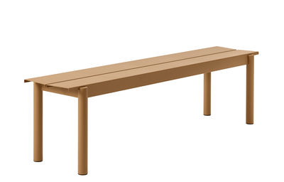 Furniture - Benches - Linear Bench - / Steel - L 170 cm by Muuto - Caramel - Powder-coated steel