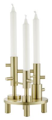 Decoration - Candles & Candle Holders - Candelabra - Brass - H 20 cm by Fritz Hansen - Brass - Solid brass